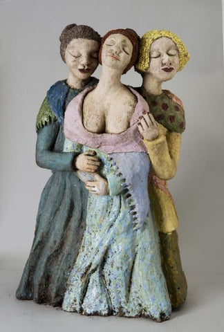 Yael Shavit,  Clay sculpture, Height 62 cm