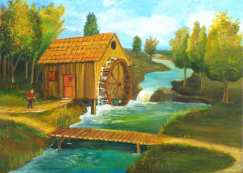 Beni Ribak, oil on canvas, 50 by 70 cm