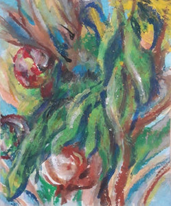 Irina Tversky Voskoboinik, Pastel colors on paper, 15 by 13 cm