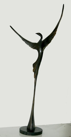 Yefim Shestik, Bronze sculpture  Size: 37 by 76 cm