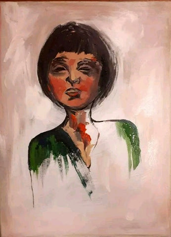 Liron ben ari,  Acrylic on canvas, 30 by 40 cm