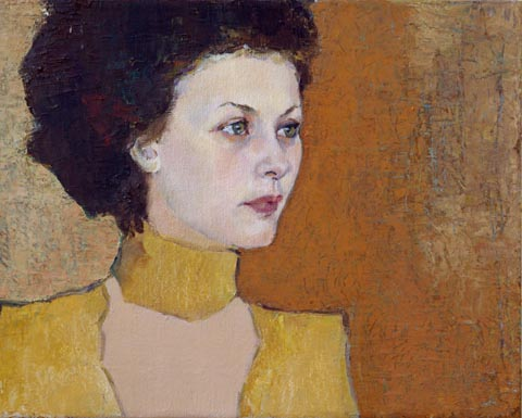 Lubov Meshulam Lemkovitch, oil on canvas, 40 by 50 cm