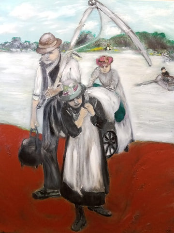 Shaul Levron, oil on canvas, 90 by 70 cm