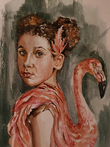 Yelena Falkovsky, aquarelle on paper,  0 by 0 cm