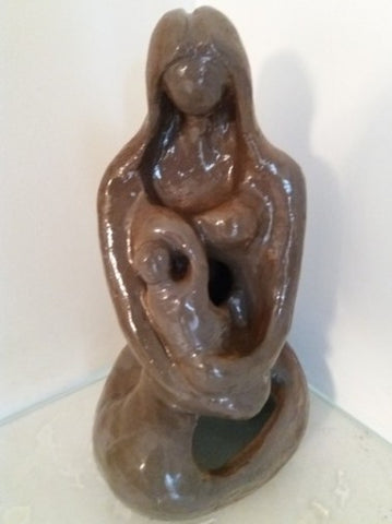 Shaul Elbaz, clay sculpture, Height:  33 cm,