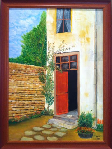 Beni Ribak, oil on canvas, 70 by 50 cm