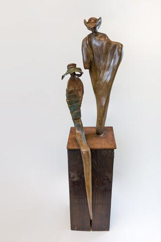 Anita Birkenfeld, Bronze  sculpture, Height 127 cm