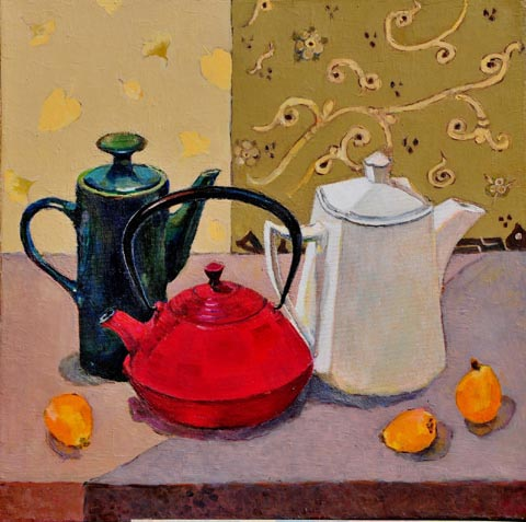 Lubov Meshulam Lemkovitch, oil on canvas, 50 by 50 cm