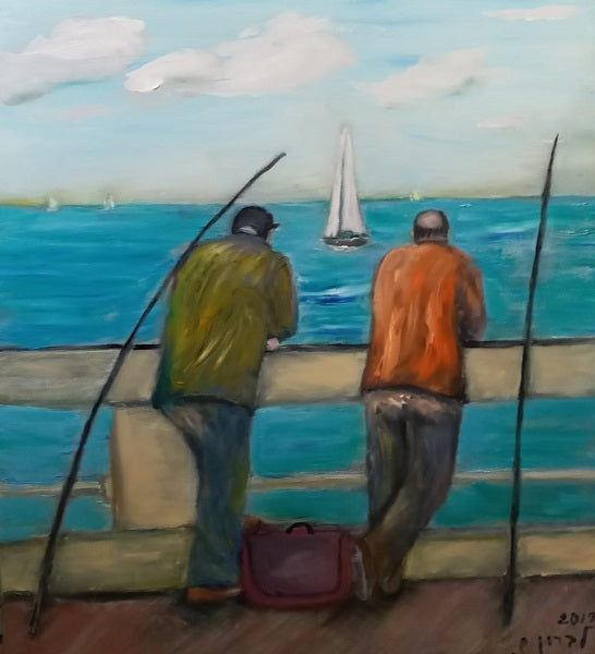 Shaul Levron, oil on canvas, 80 by 70 cm