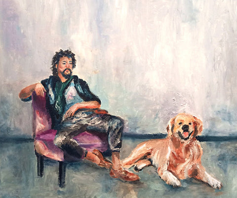 Yehudit Shalev, oil on canvas, 50 by 60 cm