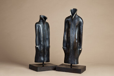 Anita Birkenfeld, Bronze and brass  sculpture, Height 61 cm, Height 54