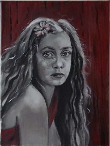 Yelena Falkovsky, oil on canvas,  35 by 25 cm