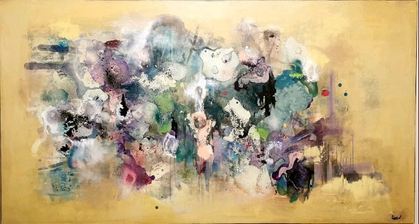 Liron ben ari,  Acrylic on canvas, 100 by 180 cm