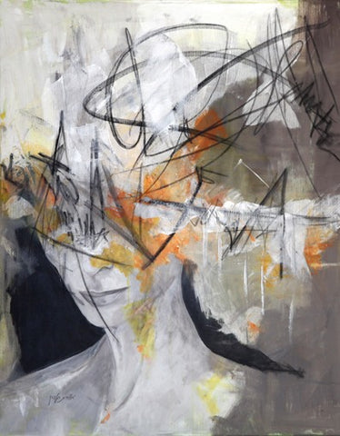 Orit Halpern, Mixed media and acrylic on canvas, 120 by 100 cm