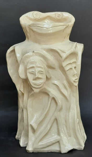 David Gome, clay sculpture, Height 34 cm