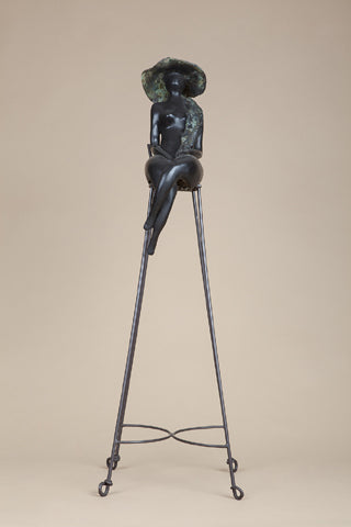 Anita Birkenfeld, Bronze and iron sculpture, Height 106 cm