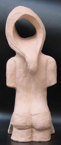 David Gome, clay sculpture, Height 38 cm