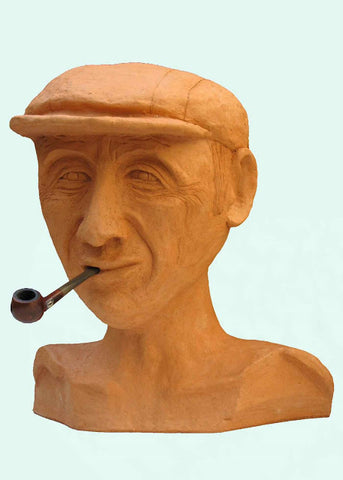 David Gome, clay sculpture, Height 39 cm