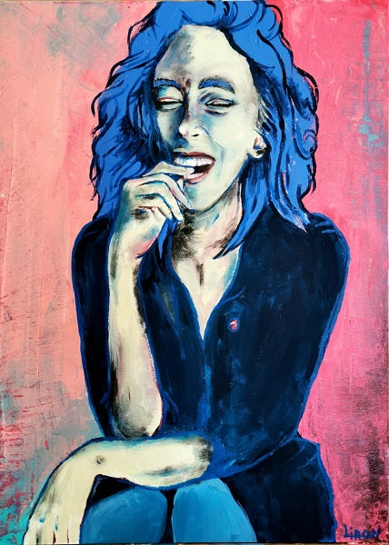 Liron ben ari,  Acrylic on canvas, 70 by 50 cm
