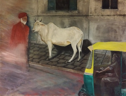 Shmulik Yaakobi , oil on canvas, 100 by 130 cm