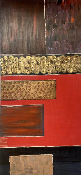 Lizi Lion , Acrylic painting with carvings on laminated wood, 244 by 61 cm