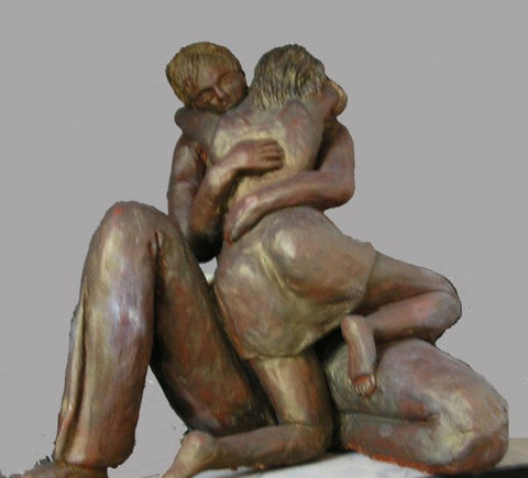 Nomi Berkowiz, clay sculpture,