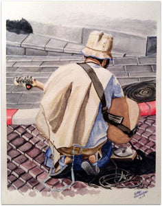 "George Freudenstein, ""Tuning Up"", Aquarelle on paper, 47 by 36 cm"