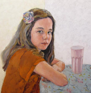 Lubov Meshulam Lemkovitch, oil on canvas, 60 by 40 cm