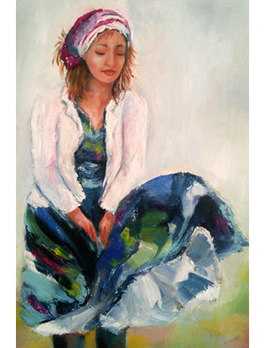 Yehudit Shalev, oil on canvas, 50 by 70 cm