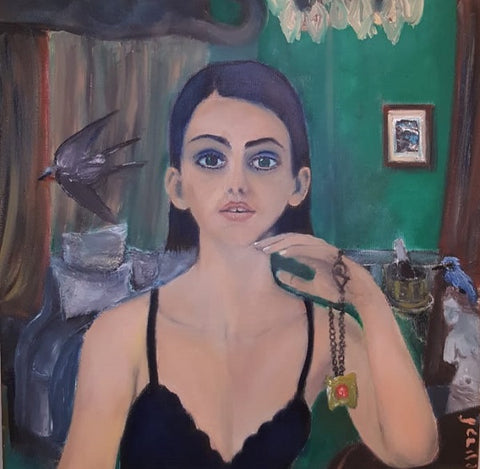 Shaul Levron, oil on canvas, 50 by 50 cm