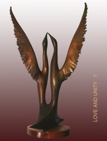 Yefim Shestik, Bronze sculpture  Size: 60 by 104 by 55 cm