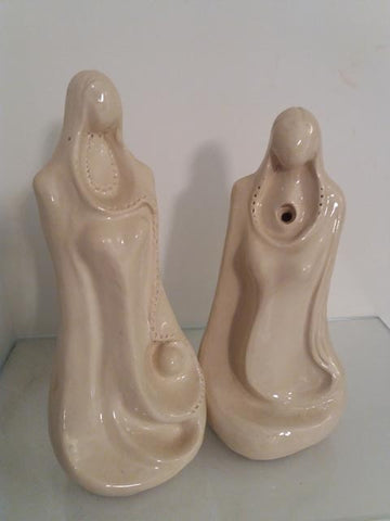 Shaul Elbaz, clay sculpture, Height:  34 cm, 30 cm