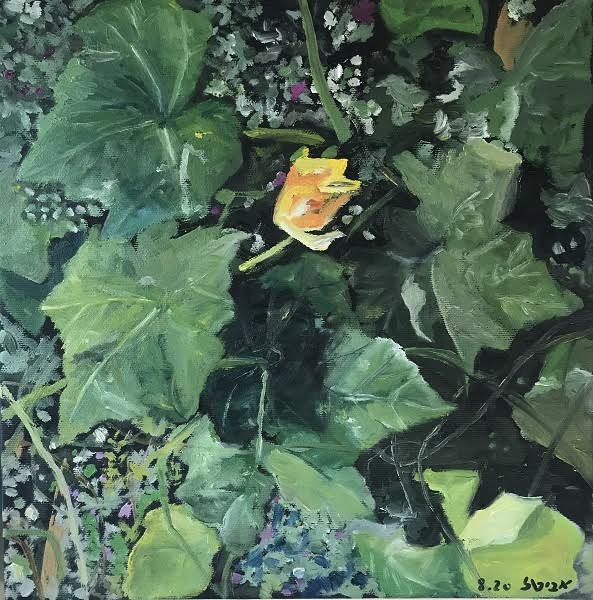 Avital Oshrovitsh, oil on canvas, 30 by 30 cm