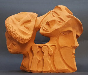 David Gome, clay sculpture, Height 26 cm