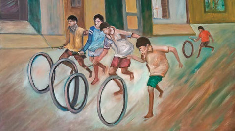 Shaul Levron, oil on canvas, 70 by 120 cm