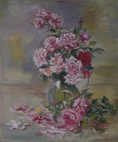 Yelena Falkovsky, oil on canvas, 50 by 40 cm