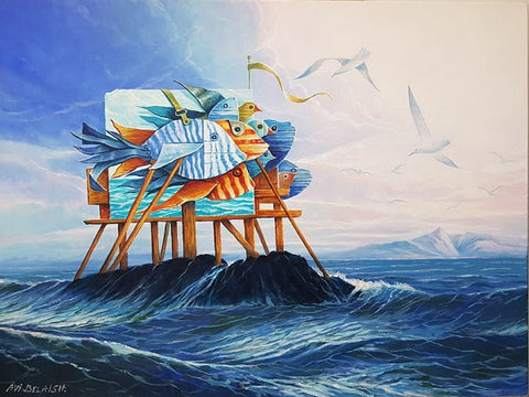 אבי בלאיש | Avi Belaish, oil on canvas, 60 by 80 cm