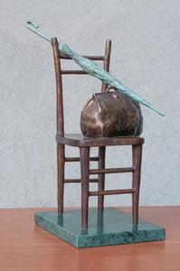 Ashot Baghdasaryan‏,  Bronze  sculpture, Long way, bronze, 33x18x20 cm