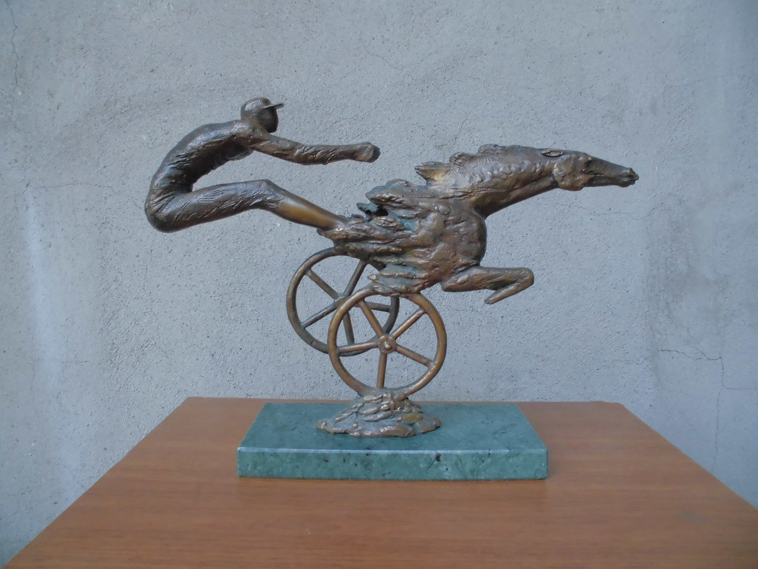Ashot Baghdasaryan‏,  Bronze  sculpture, The wind (horse-race), bronze, 33x8x23 cm