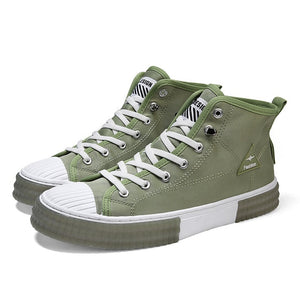 Mylos Mid-Top Canvas Sneakers - Naxify