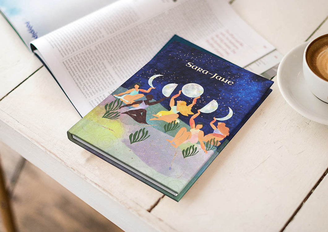 Personalised Notebook - Women & The Moon