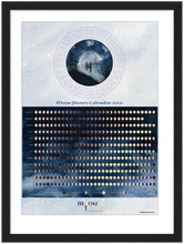 Load image into Gallery viewer, Framed Moon Phases Calendar 2021 Art