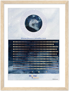 Framed Moon Phases Calendar 2021 Art