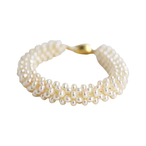Seed Pearl stitched Bracelet-BL320