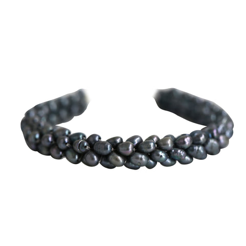 Grey Pearl Bracelet in a jali design - BL437