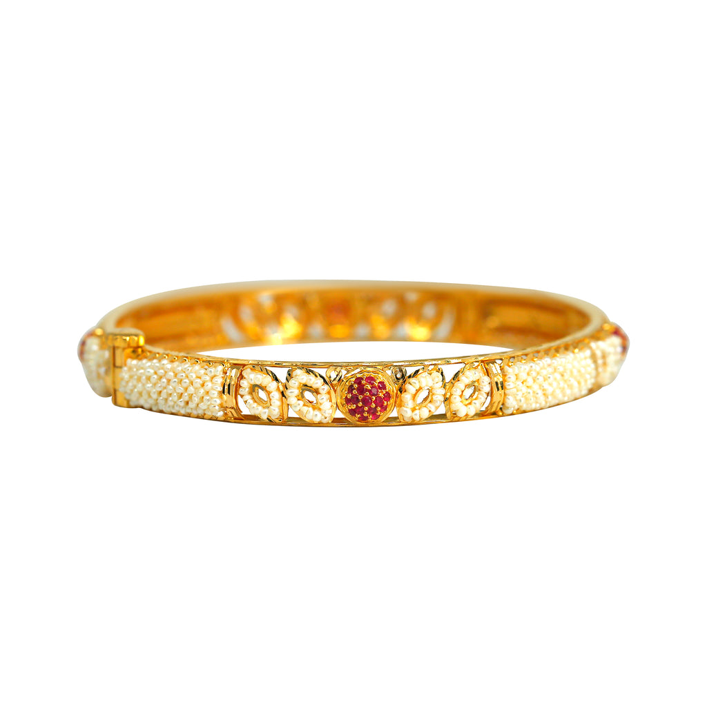 Kakamoti with Ruby Gold Bangles - GNPS002