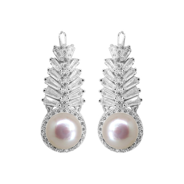 Pink Pearl with CZ Stone - T4169