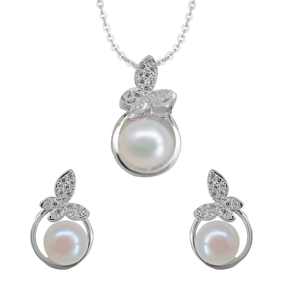 Button Pearl - pendent Earrings - P0942
