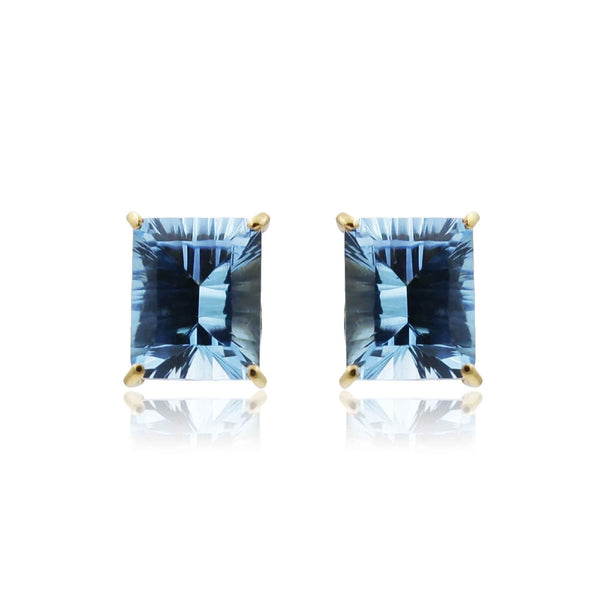 Blue Topaz -Earrings -GTSP502 KrishnaPearlsandJewellers