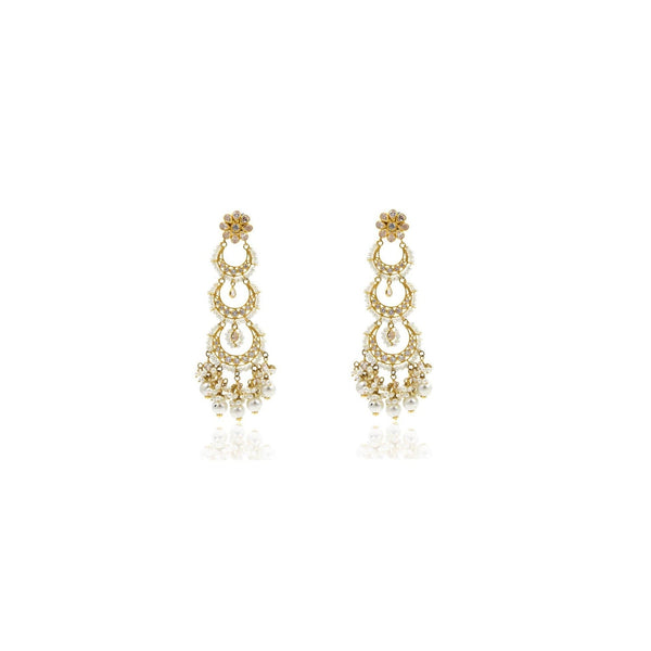 Chandbali Earrings Gold -GSPS961 KrishnaPearlsandJewellers